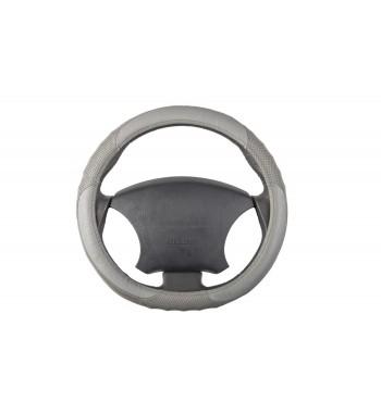 Cubre volante en piel gris
