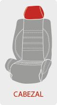Personalizar el color del cabezal de la funda de asiento del coche