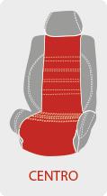 Personalizar el centro del color de la funda de asiento de coche