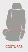Personalizar el color de las costuras de la funda de asiento del coche