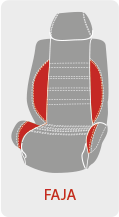 Personalizar el color de la faja del asiento de la funda de coche